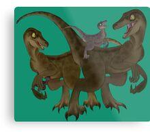 Velociraptor Family Metal Print
