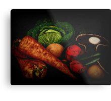 Still Life of Vegetables Metal Print