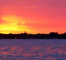 Sunset - Port Phillip Bay, Melbourne by Ruth Durose