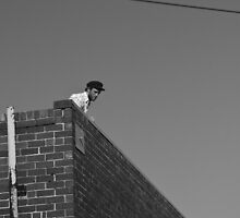 Guy on Roof by Jay  Little