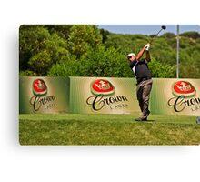 (3) The Follow Through - Torquay Sands Golf Club Canvas Print