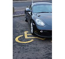 Blind Driver Photographic Print