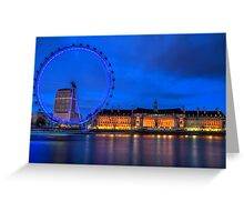 London Eye & Aquarium From Across The Thames Greeting Card