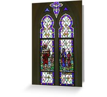 Stained Glass Window in St Andrews Anglican Church South Brisbane Greeting Card