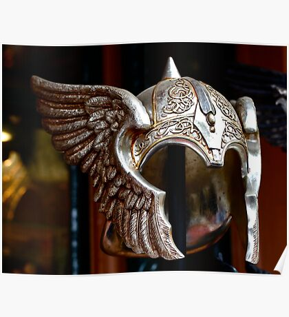 Faceless-helmet with wings Poster