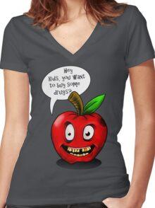 BAD Apple!! Women's Fitted V-Neck T-Shirt