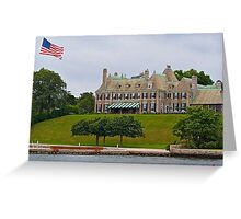 Summer Home at Newport Greeting Card