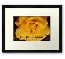 BFF ~ Best Friends Forever Framed Print