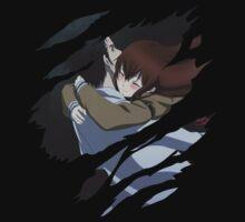 steins gate kurisu makise x okabe anime manga shirt by ToDum2Lov3