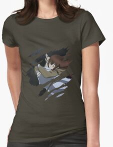 steins gate kurisu makise x okabe anime manga shirt Womens Fitted T-Shirt