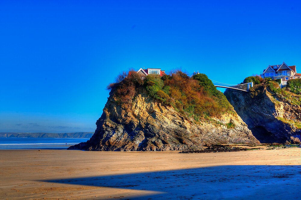 Town Beach Newquay by David Wilkins