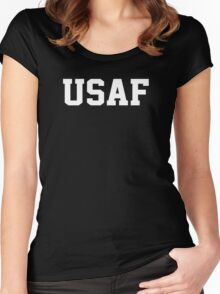 USAF Air Force Physical Training US Military Women's Fitted Scoop T-Shirt