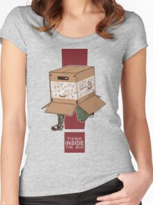 Think INSIDE the box. Women's Fitted Scoop T-Shirt