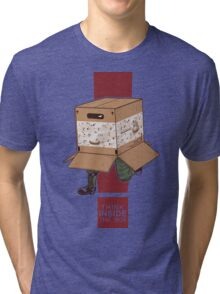 Think INSIDE the box. Tri-blend T-Shirt