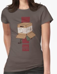 Think INSIDE the box. Womens Fitted T-Shirt