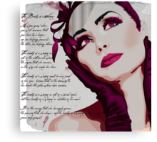 The Beauty of a Woman - pink Canvas Print