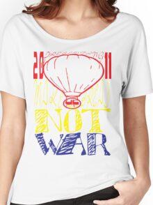 make bread not war tshirt by ian rogers Women's Relaxed Fit T-Shirt