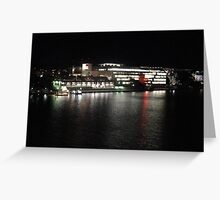 Qld State Library at night Greeting Card
