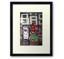 red bunny in Berlin Framed Print