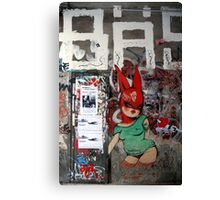 red bunny in Berlin Canvas Print