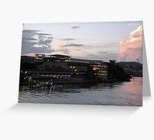 State Library of Queensland sunset Greeting Card