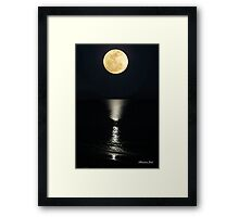 Ocean ~ By the Light of the Moon Framed Print