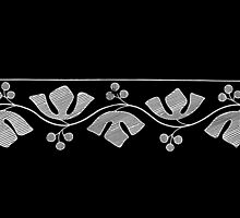 Stylized Leaf and Berry knit border design, 1877 by gumbogirlonline
