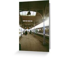 we catch trains, we write letters and say funny things.  Greeting Card