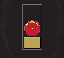 No003 My 2001 A space odyssey minimal movie poster by JinYong