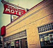 Driftwood Motel & Diner  by John  De Bord Photography