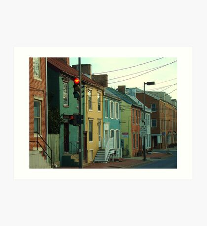 Historic Downtown Frederick, MD Art Print
