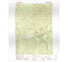 USGS Topo Map Oregon Illahee Rock 280278 1989 24000 Poster