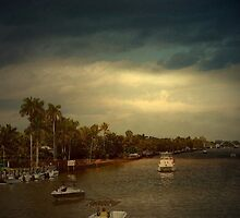 Good Night Delray Beach by Marie Luise  Strohmenger