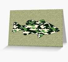 Camo Bass - Blank Greeting Card Greeting Card