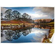 Winter sunlight on distant fells Poster