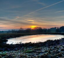Atingham park sunset by dan williams