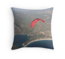 Paraglider Throw Pillow