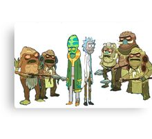 Tree people and Rick Canvas Print