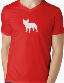 French Bulldog Silhouette (White) T-Shirt