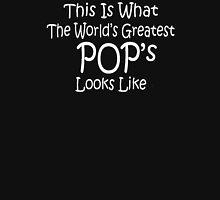 World's Greatest Pop's Fathers Day Birthday Anniversary Unisex T-Shirt