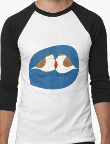 Red Robin for Xmas Men's Baseball ¾ T-Shirt