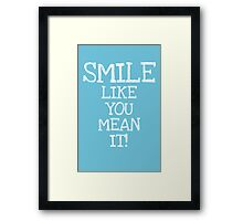 smile chalk Framed Print