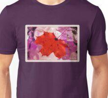 Autumn Leaf on a Wet Table Unisex T-Shirt