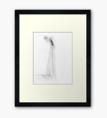 Prairie Windmill In Winter Framed Print