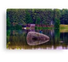 Fishing on Lake Whittemore Canvas Print