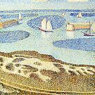 "Study of Seurat's ""Entrance to the Outer Harbour"" by Alizey Khan"