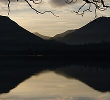 2 dark mountains - Derwent Water, Keswick by monkeyferret