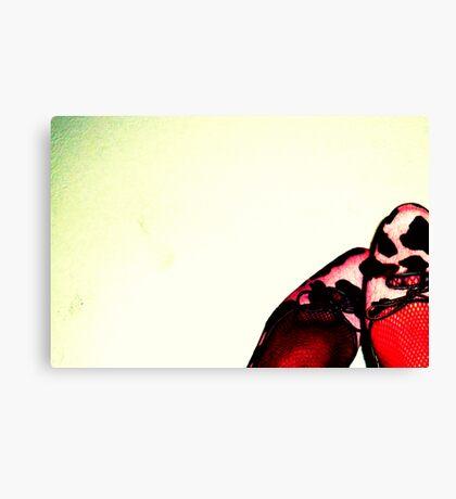 Valentine Toes Canvas Print