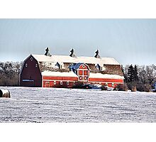 The Three Cupola Barn Photographic Print