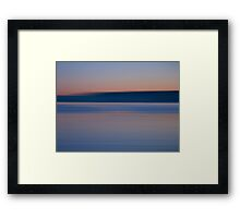 Blue color Framed Print